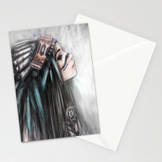 Walking Through Fog Stationery Cards