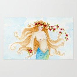 The Rose Mermaid Rug