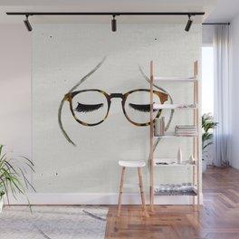 Tortoiseshell Glasses Brunette Wall Mural