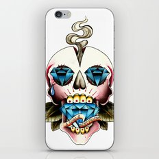Diamond Skull iPhone & iPod Skin