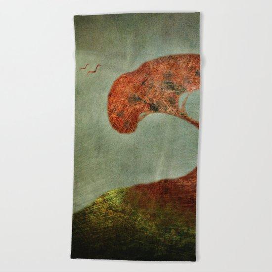 Fragile Flight Beach Towel