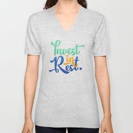 Invest in Rest  Unisex V-Neck