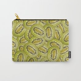 Kiwi Fruits pattern Background Design Carry-All Pouch