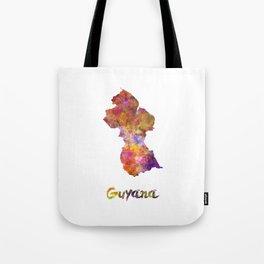 Guyana in watercolor Tote Bag