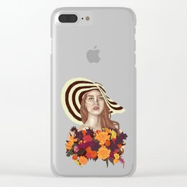 A flower between flowers // Del Rey with a bouquet Clear iPhone Case