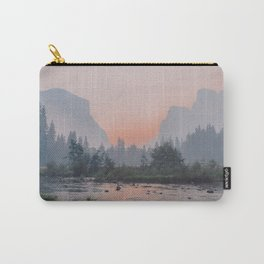 Yosemite Valley Sunrise Pretty Pink Carry-All Pouch