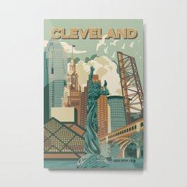 Cleveland City Scape Metal Print