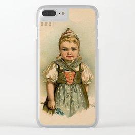 German Girl Maud Humphrey 1891 Clear iPhone Case