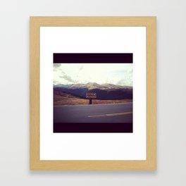Top of the World Framed Art Print
