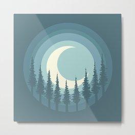 Circle Landscape (Forest Moon) Metal Print