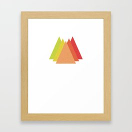 Simple Mountains Framed Art Print