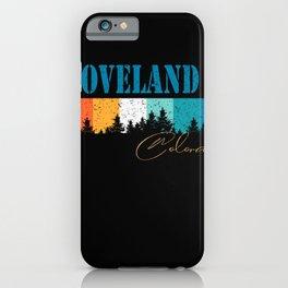 Colorado Vintage Bellevue Loveland USA Retro 80s 90s iPhone Case