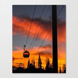 Paint the Sky Orange Canvas Print