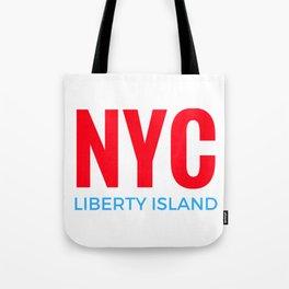 NYC Liberty Island Tote Bag