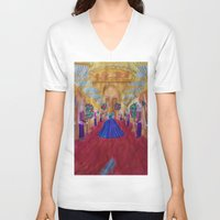 cinderella V-neck T-shirts featuring Cinderella  by Jgarciat