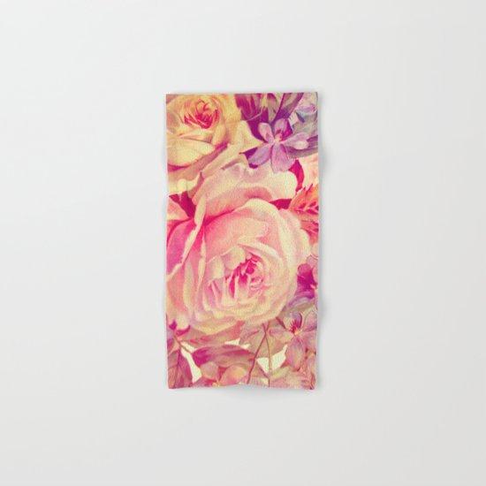 soft vintage roses Hand & Bath Towel