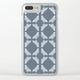 Blue Bayoux Arts and Crafts Butterflies Clear iPhone Case