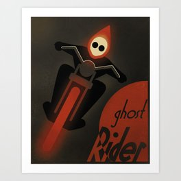 CASSANDRE SPIRIT - Ghost Rider2 Art Print