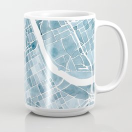 Map Nashville Tennessee Blueprint City Map Coffee Mug