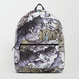 Saribung, Nepal - Watercolor and Ink artwork Backpack