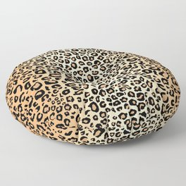 Tan Leopard Print Floor Pillow