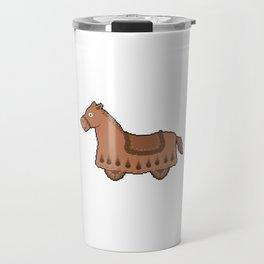 Pixel Drawing: Cabriolet horse Travel Mug