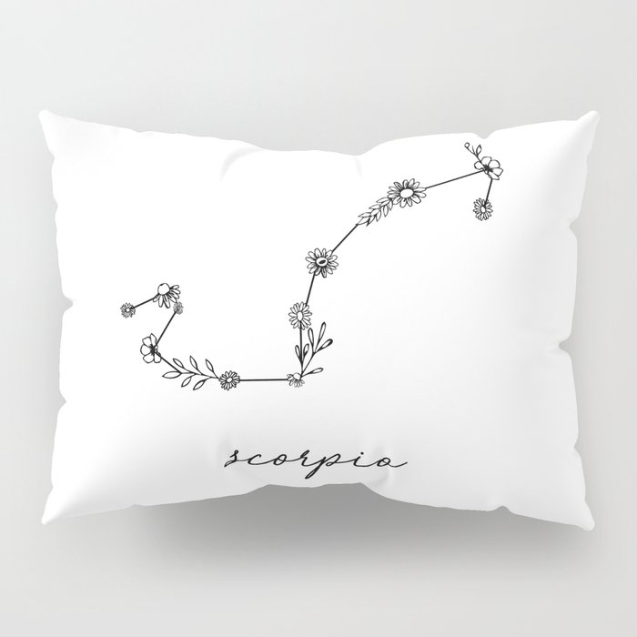 Scorpio Floral Zodiac Constellation Pillow Sham