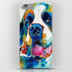 Colorful Saint Bernard Dog by Sharon Cummings Slim Case iPhone 6 Plus