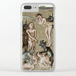 Demons in hell Clear iPhone Case