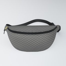 Pantone Pewter Gray Small Scallop, Wave Pattern Fanny Pack