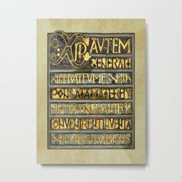 Book Of Durrow Illuminated Page Metal Print