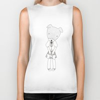 jack russell Biker Tanks featuring LOLO THE JACK RUSSELL TERRIER by miseyu