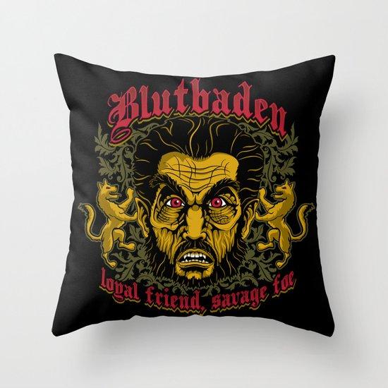 Blutbaden Throw Pillow