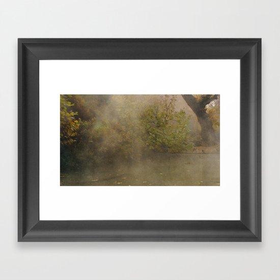 morning fog Framed Art Print