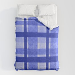 Tissue Paper Plaid - Blue Comforters