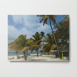 Beautiful Beach at Pigeon Point, Trinidad and Tobago Metal Print