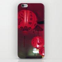 lanterns iPhone & iPod Skins featuring lanterns by rachel kelso