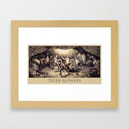 Tiger Flowers Framed Art Print