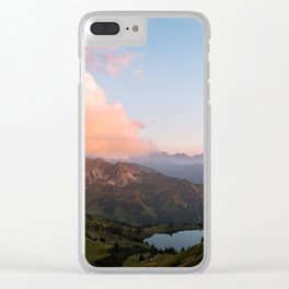 Mountain lake in Germany with Moon - landscape photography Clear iPhone Case