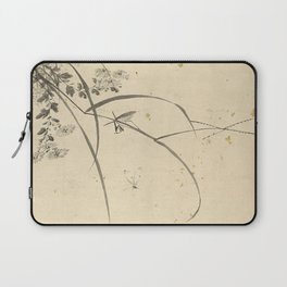 Vintage Chinese Ink and Brush Painting and Calligraphy Laptop Sleeve