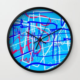 abstract typographic Wall Clock