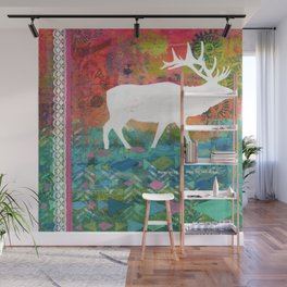 How Wild It Was Elk Collage Wall Mural