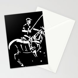 Polo pony and rider Stationery Cards