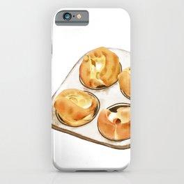Watercolor Illustration of British dessert - Yorkshire pudding iPhone Case