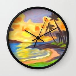Trade Wind Island Wall Clock