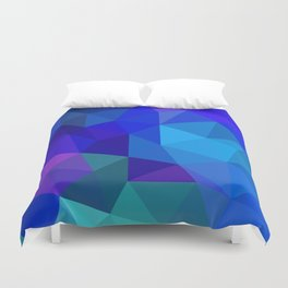 Sapphire Low Poly Duvet Cover