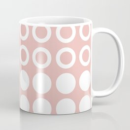 Mid Century Modern Circles And Dots Dusty Rose Coffee Mug