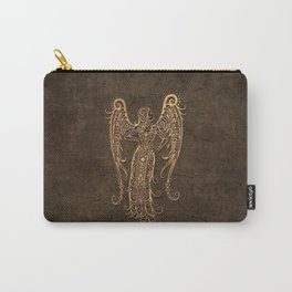 Vintage Rustic Virgo Zodiac Sign Carry-All Pouch