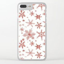 Snow Flakes 02 Clear iPhone Case