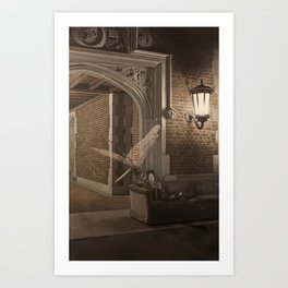 Dragonfly at Reed College Art Print